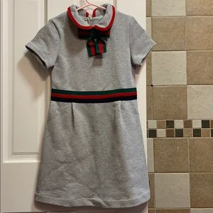 GUCCI GIRL Grey Cotton dress 8Y